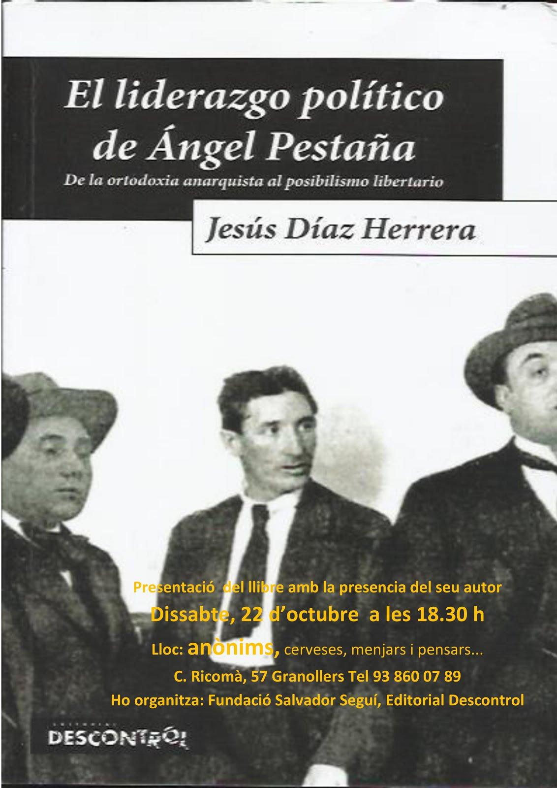 Presentació del llibre sobre Ángel Pestaña a l'Anònims de Granollers