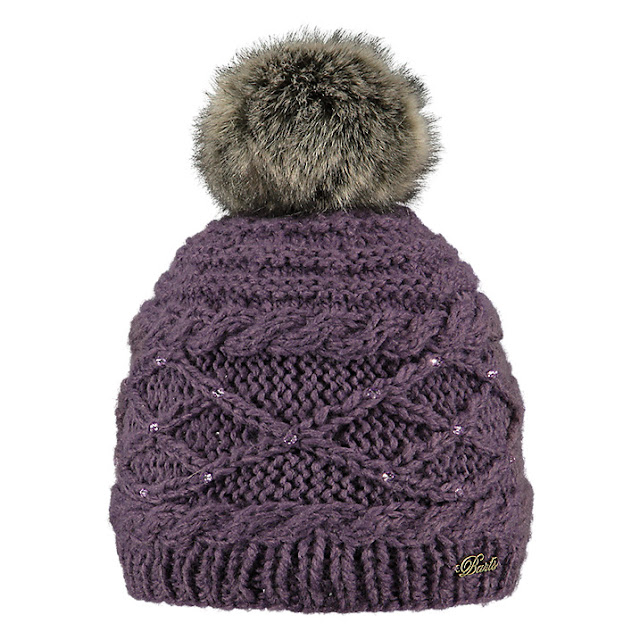 barts purple bobble hat,