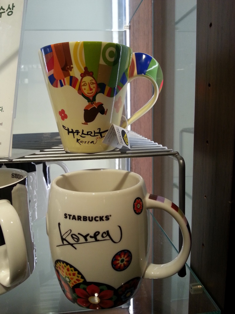чашка starbucks сеул