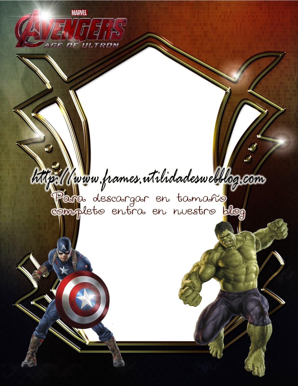 marco para fotos de los avengers
