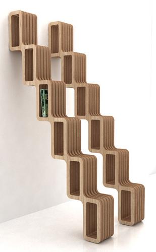 Dise os de escaleras para espacios peque os decoracio for Diseno de libreros para espacios pequenos
