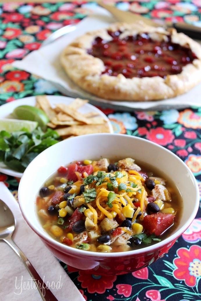 5 Minute Chicken Tortilla Soup
