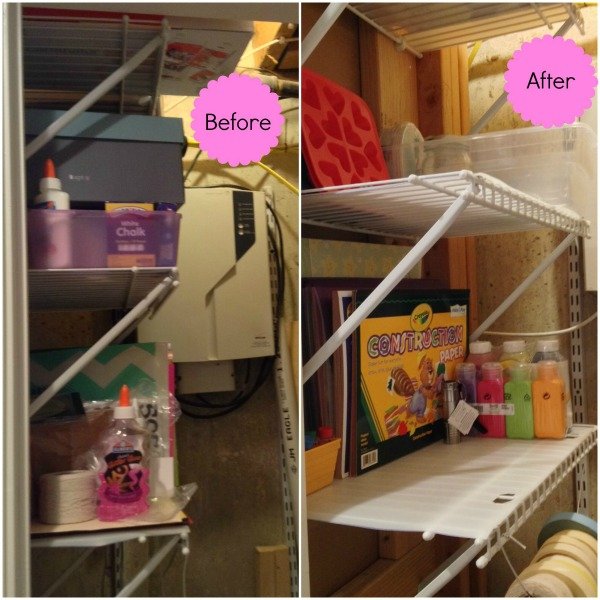 Before and After Pictures of Craft Storage Organization - Operation: Project Organize Month 1 Craft Space | Managing a Home