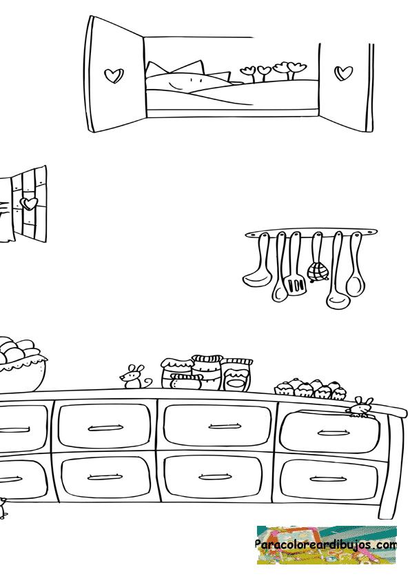 Free coloring pages of imagenes pollo asado for Dibujos de cocina