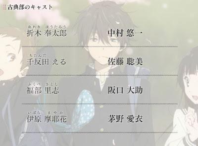 hyoka anime kyoto animation cast seiyuus