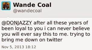More Drama; Wande Coal Replies Don Jazzy .