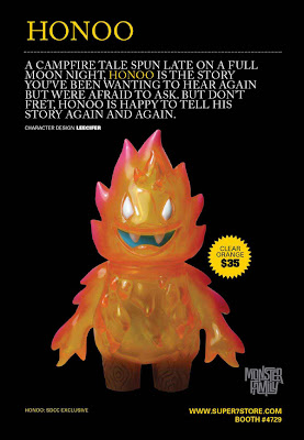 San Diego Comic-Con 2011 Exclusive Grapefruit Clear Orange Honoo the Flame by Leecifer