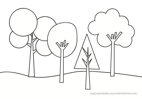 Dibujos para colorear rboles para colorear for Focos para iluminar arboles