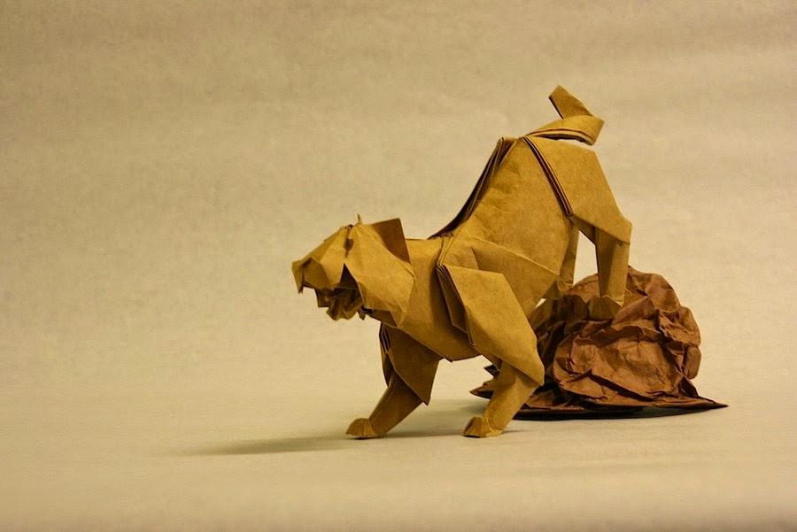 origami tiger