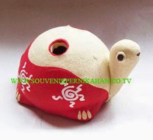 souvenir tempat pensil berbentuk kura-kura