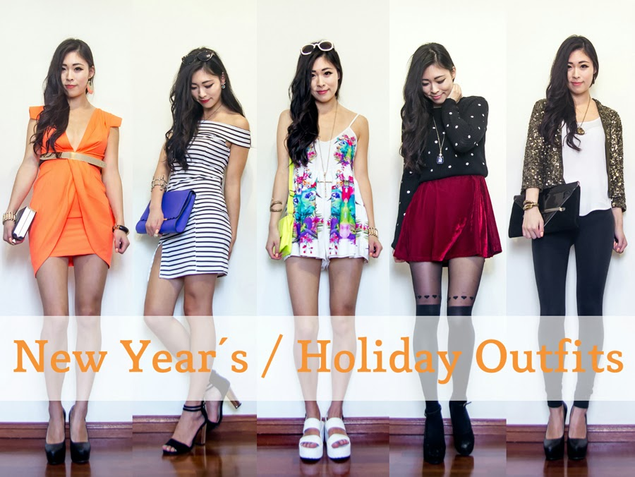 this is the new youtube video i mentioned i was working on in my previous post the theme is new years eve or holiday outfits and i have 5 outfits