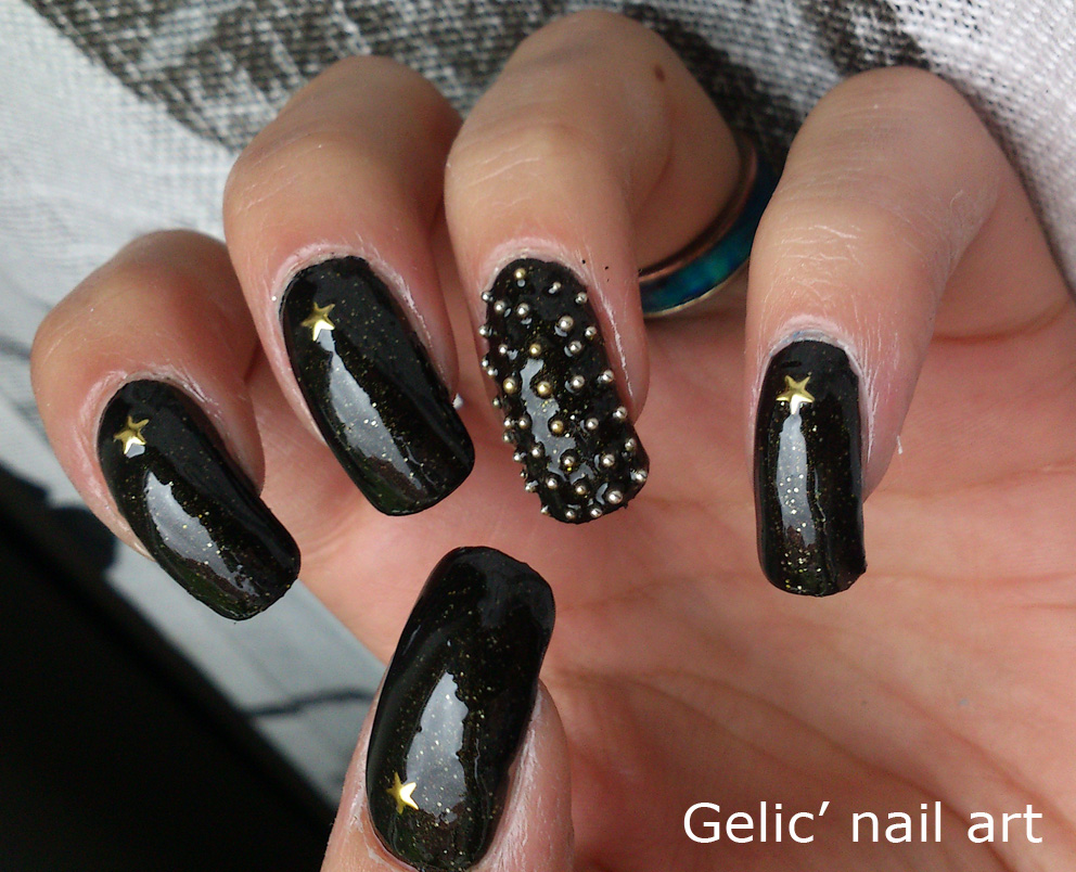 Gelic Nail Art 31dc2013 Day 19 Abstract Punk Rock Galaxy Nails