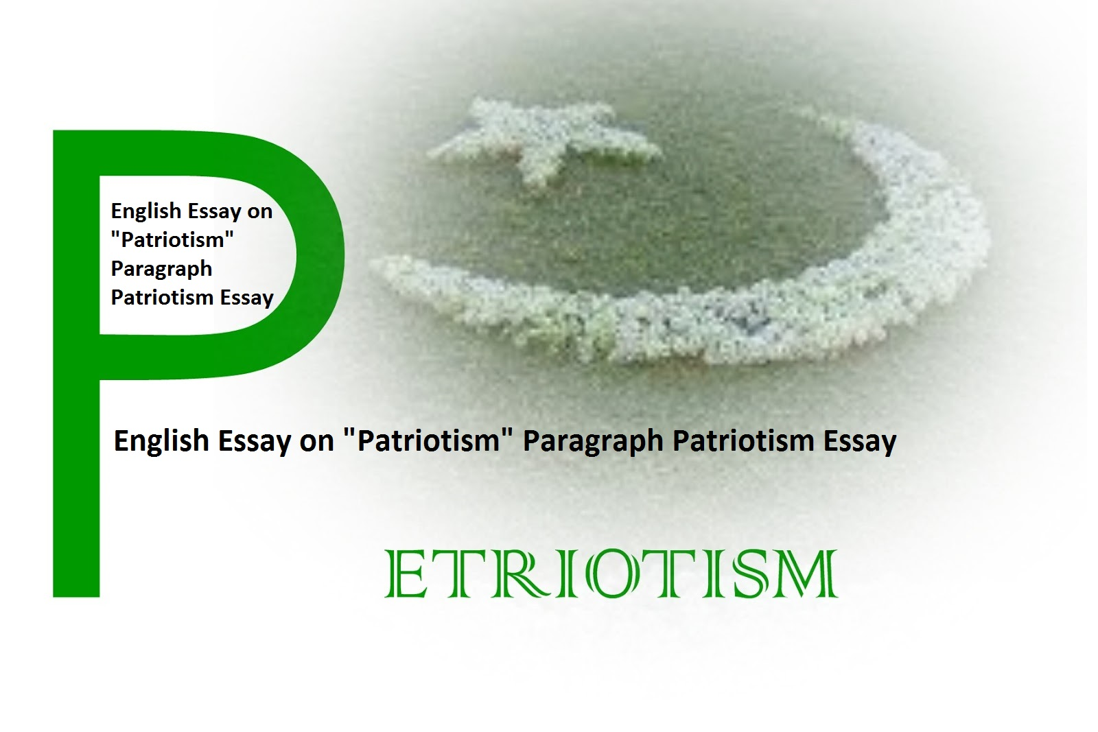What is patriotism essay