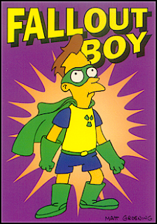 Fall Out Boy band name origins - The Simpsons - Fallout boy