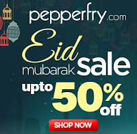 Eid Mubarak Sale upto 50% off from pepperfry : Buytoearn