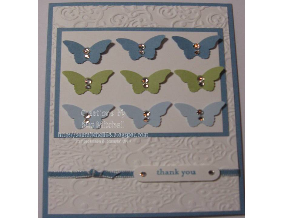 Mitchell stampin up butterfly card ideas sympathy and thank you
