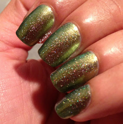 NailaDay: Jessica Iridescent Eye with NOPI Wink of Tink