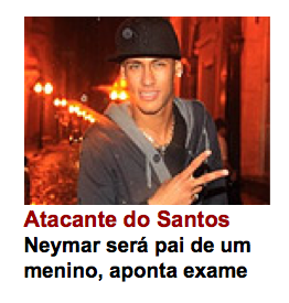 Neymar será pai de um menino