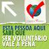 Dia do Voluntariado - Blogagem Coletiva