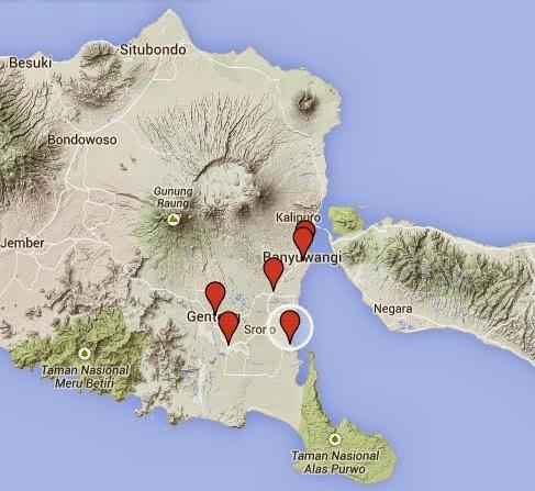 Peta Lokasi BNI 46 Banyuwangi