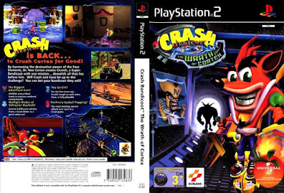 Jogo Crash Bandicoot The Wrath Of Cortex PS2 DVD Capa