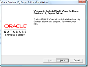 Instal oracle Express Edition