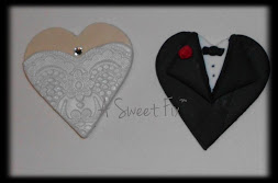 Heart Wedding Cupcake Toppers
