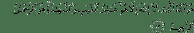 Surat Al-Hasyr Ayat 22