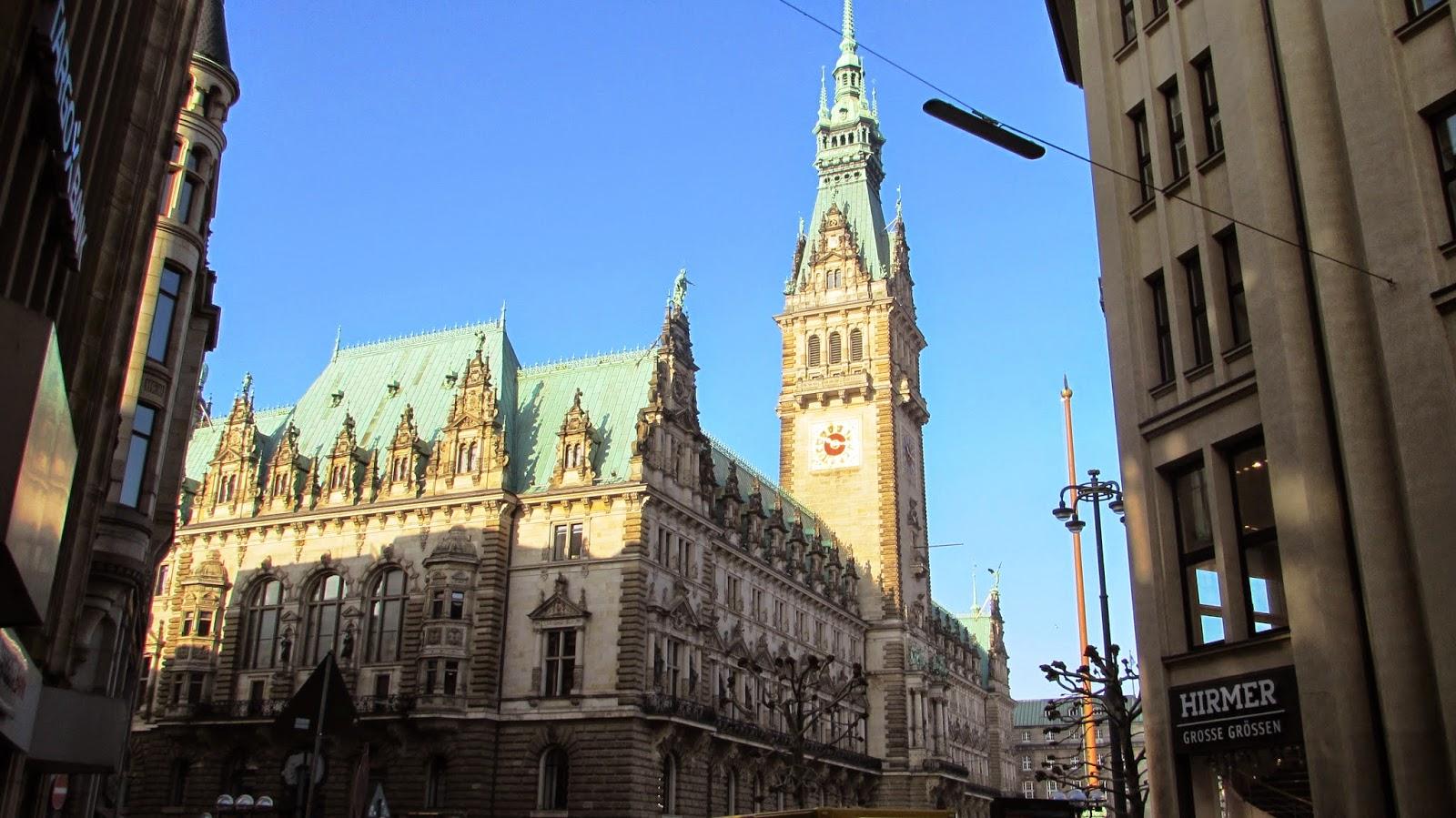 Rathaus, ratusz hamburg