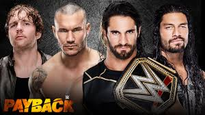 Fatal Four Way Reigns Shield Ambrose Orton Seth Rollins WWE Championship PPV