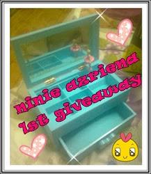 """ ninie azriena 1st giveaway : kau muzik dihatiku """