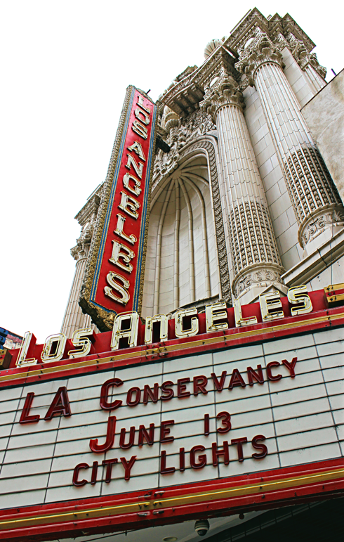 los angeles theatre marquee broadway downtown