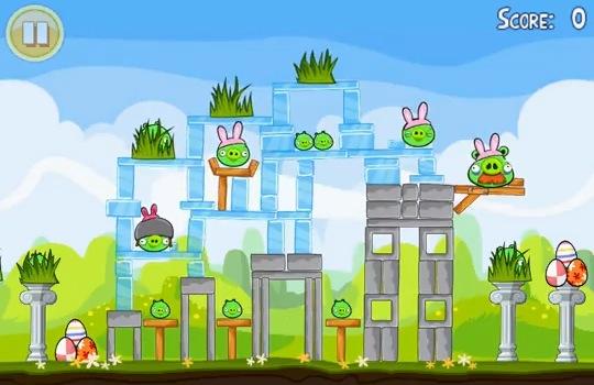 Angry Birds Seasons Easter Eggs 3 Stars Level 1-5