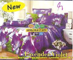 Harga Bed Cover Fata Signature – Lavender Violet Uk. 180 Jual