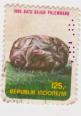 Perangko Patung Batu Gajah Palembang Rp 125 Tahun 1980