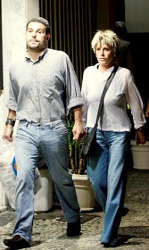 Ana Maria e seu namorado 31 anos mais novo