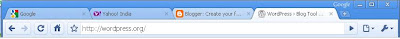 Tabbed browsing in Google Chrome