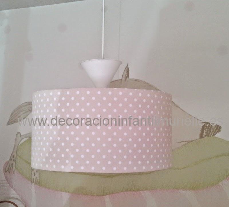 Pantalla cilindrica lampara de techo infantil - Lampara infantil de techo ...