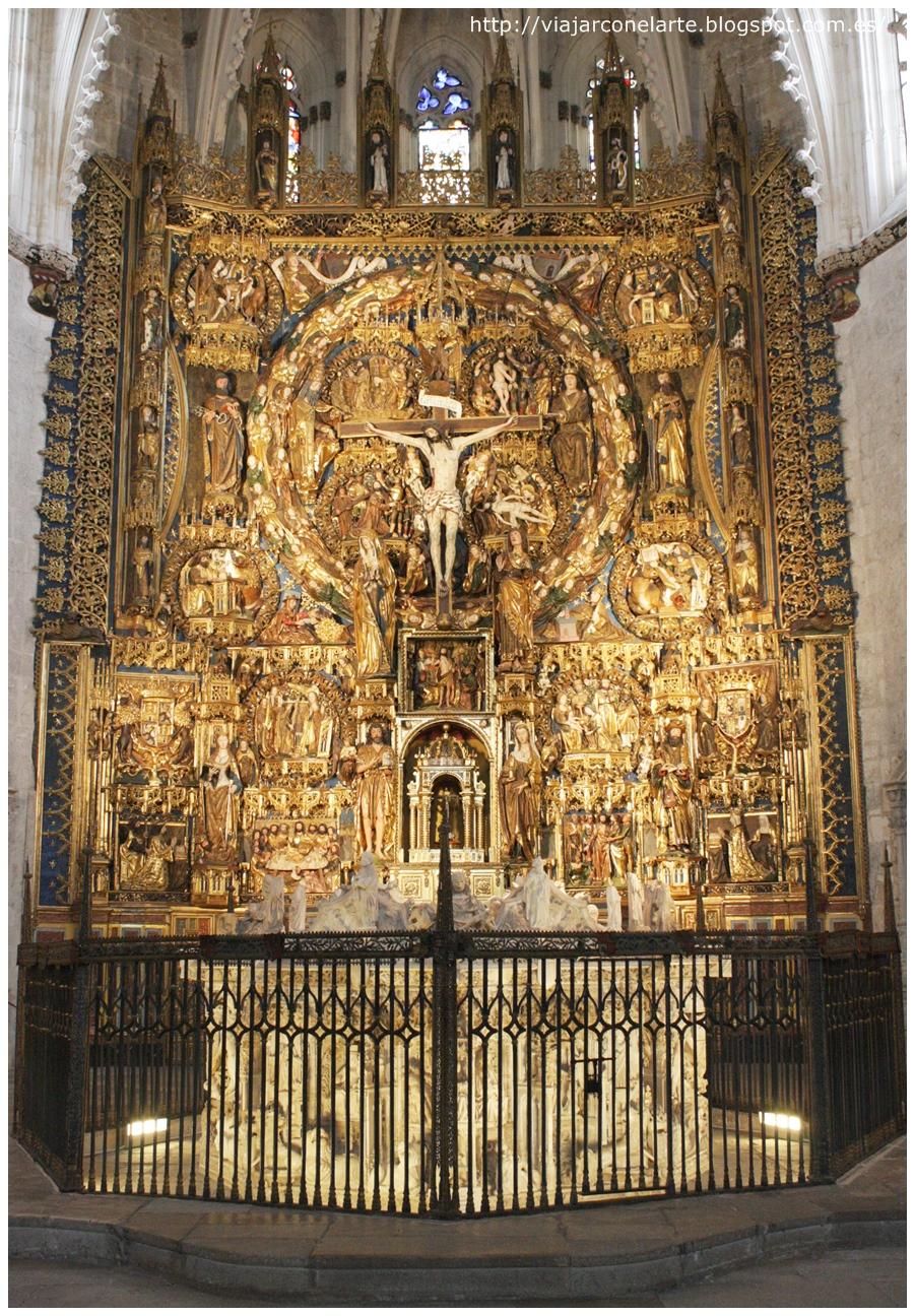 El retablo mayor de la cartuja de miraflores en burgos - La isla dela cartuja ...