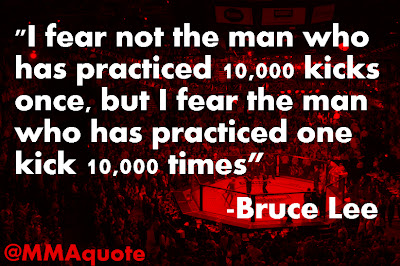 fear not the man who has practiced 10 000 kicks once  but I fear    Bruce Lee Quotes On Practice