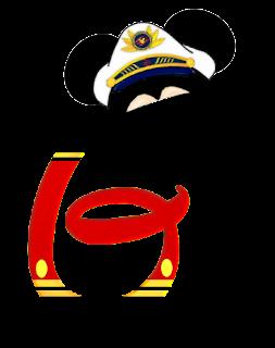 Alfabeto de personajes Disney con letras grandes G Mickey.