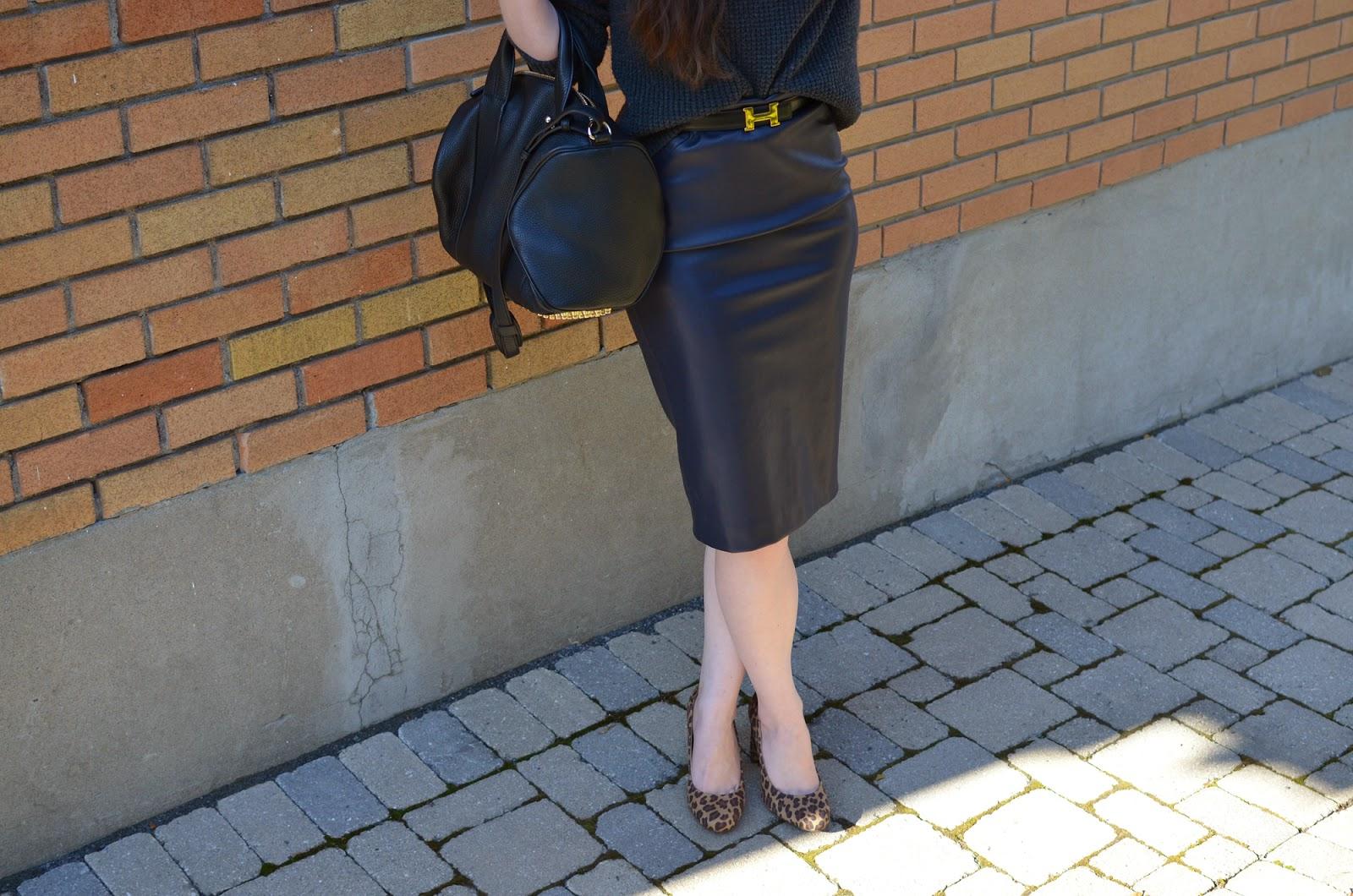 High-low OOTD ft. a Hermes belt from Yoogi's Closet, my Alexander Wang Rocco, a Zara skirt, and Target heels