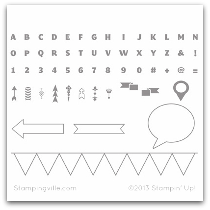 Stampin' Up! Designer Typeset Stamp Brush Set