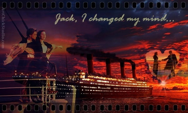 Jack and Rose Titanic Digital Art