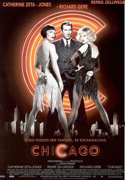 Portada película Chicago Catherine zeta-jones Richard gere Renée zellweger