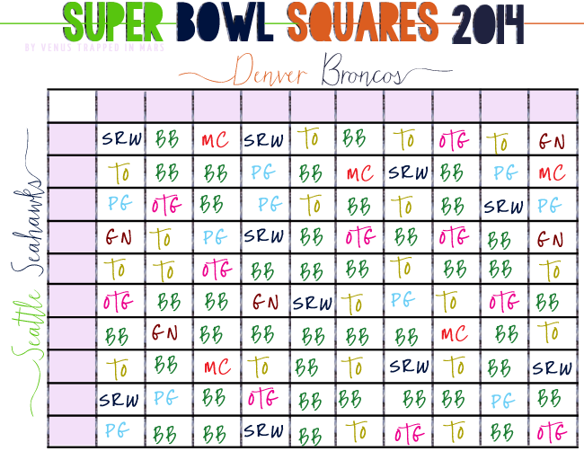 How to play super bowl squares