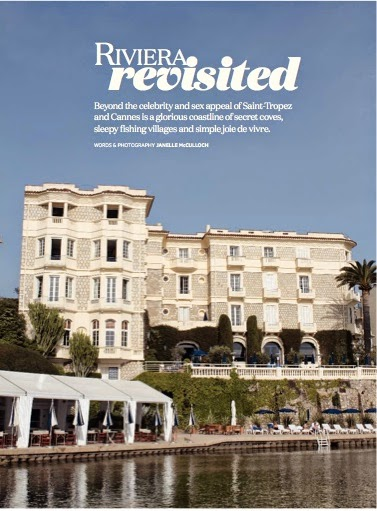 THE FRENCH RIVIERA IN GOURMET TRAVELLER MAG