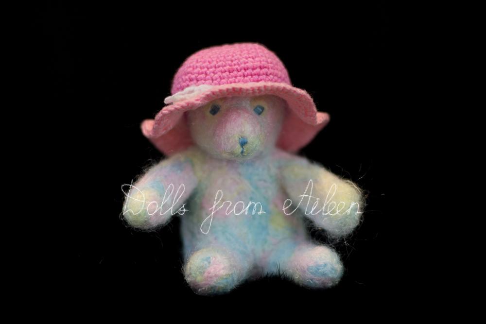 OOAK needle felted teddy bear