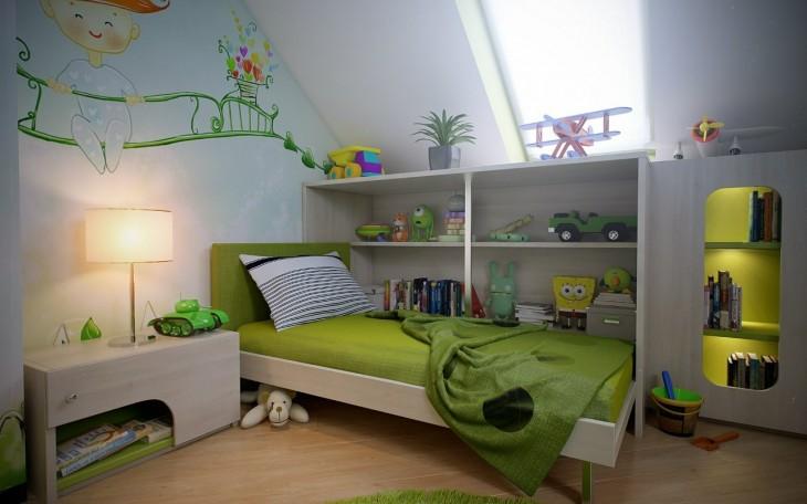 Cute Attic Bedroom For Kids Frugal Family Fair