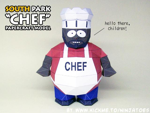 South Park Chef Paper Model